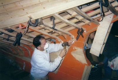 "Eighth generation Crosby boatbuilder E.M.Crosby, Jr., ""Ned"""