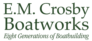 EM Crosby Boat Works – Custom Boat Builders – Barnstable Cape Cod Sticky Logo Retina