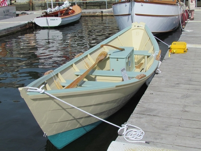 "19'6"" modified Banks-style dory (1 of 2 built concurrently at E.M.Crosby Boatworks in 2015 ) traces her lines to the fishing and Coast Guard rescue history of coastal New England and the Canadian Maritimes."