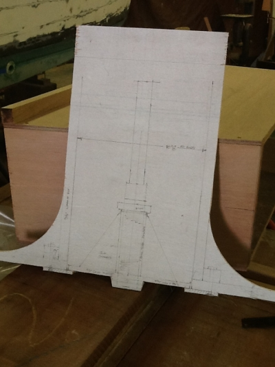 Full scale mockup of well, platten and steerable electric pod support structure.