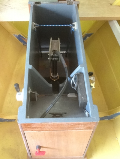 Motorwell as viewed looking aft with component installed.