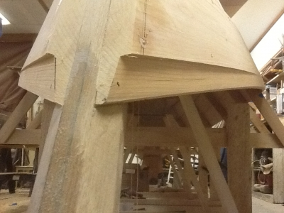 Planking complete…note rabbet on stem head left unfinished to allow for fitting of covering at a later date.