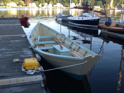 Dockside at Mystic Seaport from astern. All that in a 19'6'' package and yet very traditional.
