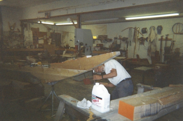 Mike Santos, bolting and gluing