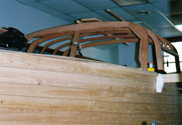 Framework was glued together on the boat.