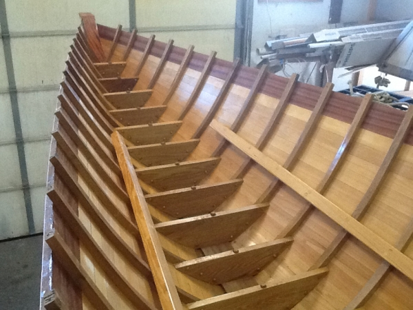 Hull returns to E.M.Crosby Boatworks.