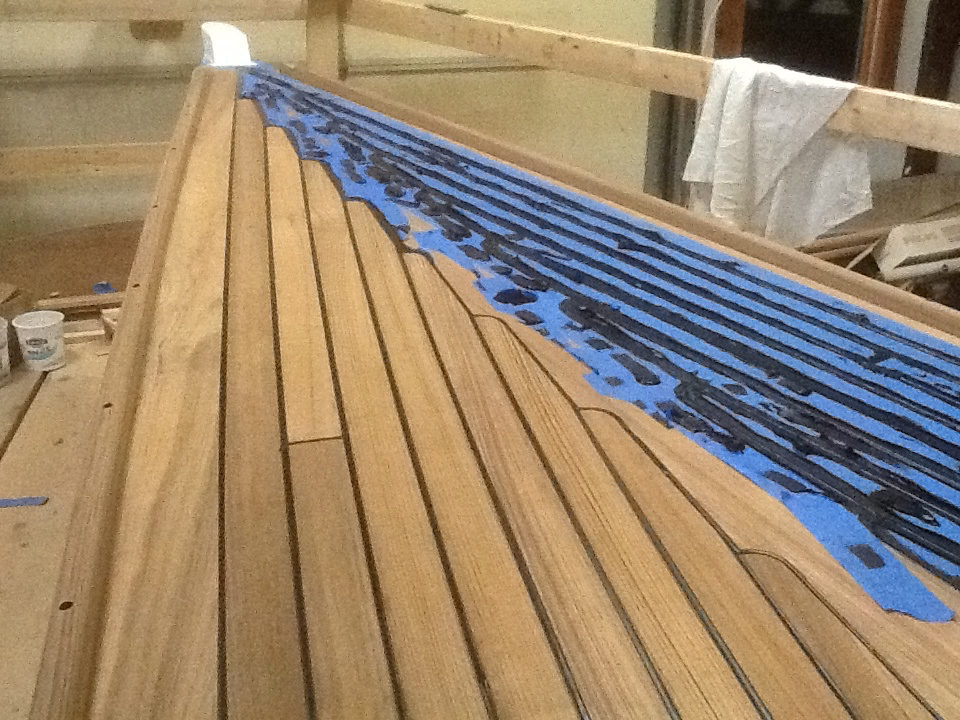 Teak Over Plywood Deck Paying Deck Seams No